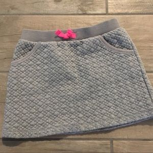 Gray Quilted Skirt